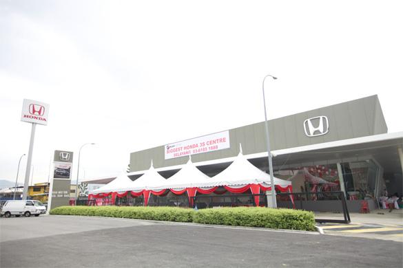 Honda 39 s first 3s centre to adopt honda corporate identity for South motors honda service