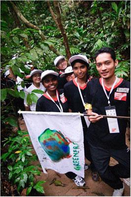 Trekking was part of the oupoor team activities