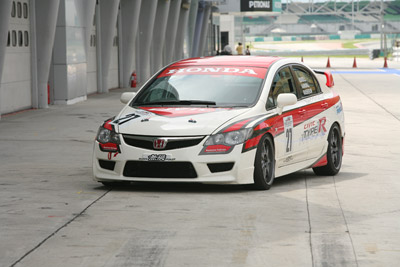 HMRT's race car – The Honda Civic Type R