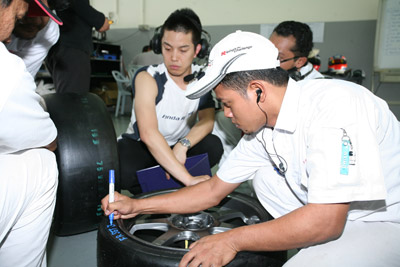 Marking tires prior to testing