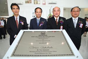En. Rohime Shafie President and COO of Honda Malaysia Sdn Bhd, Toru Takahashi, Managing Director and CEO of Honda Malaysia Sdn Bhd,  Johnnie Wong, Managing Director of Ban Lee Heng Motor Sdn Bhd, and Edward Wong, Director of Ban Lee Heng Motor Sdn Bhd.