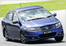 Stylish, Practical and PERFORMANCE - 3rd Gen City countering a sharp turning at the On Track course.