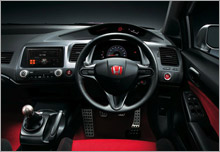 The stylish interiors of the New Civic Type R.