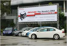 The handsome line-up of Honda's full range model at SIC.