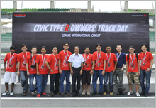 Mr. Toru Takahashi, MD and CEO of HMSB together with winners of Type R challenge online contest.