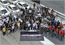 Owners of Civic Type R and HMSB associates posing for a group shot at SIC.