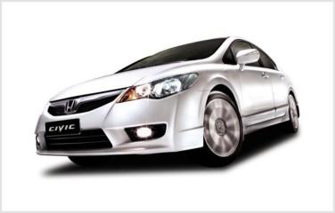 8th Generation Honda Civic in its new Taffeta White