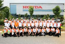 Group photo at Honda's Manufacturing Plant in Alor Gajah.