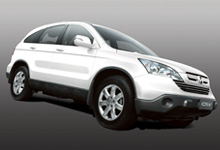 The sporty and stylish 3rd Generation CR-V in new Taffeta White colour.