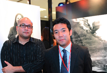 (L-R) Encik Azrul K. Abdullah, one of the four photographers appointed by Honda Malaysia Sdn. Bhd. together with Mr. Go Suzuki, Head of Sales and Marketing Department, Honda Malaysia Sdn. Bhd.