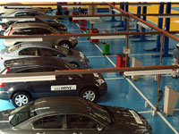 Service Centre Area, 17,860 sq.ft. 19 service bays to accommodate up to 70 cars per day for standard service.