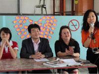 Talk at Tambunan - Fujimoto flanked by Shiao Fong and Laura Lee (UNDP)
