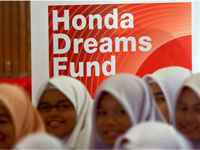 Honda Dreams Fund talk at SMK Darul Ehsan.