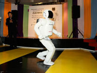 Now ASIMO can run at 6km hour.