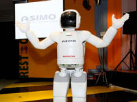 ASIMO is pleased to meet the students at Petrosains.