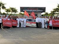 Group photos of HMRT members with Honda Management..
