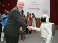 Dato' Mohr is grateful to have ASIMO celebrating with them the Fund's 20th Anniversary.