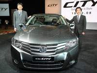 Mr. Atsushi Fujimoto, Managing Director and Chief Executive Officer of Honda Malaysia and Mr. Takeshi Nakamura, Chief Engineer and Large Project Leader, Honda R&D Co. Ltd.