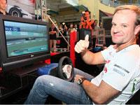 Rubens at the F1 Simulator