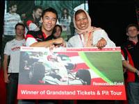 Lucky Honda Customer Wins F1 Grandstand Ticket & Pit Tour