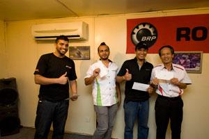 2nd Prize Winners! – From L-R: Jacob (Driven Media), Akkbar Danial (HMSB), Harvinder (Driven Media) & Mr. Toru Takahashi (HMSB).
