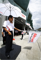 Mr. Toru Takahashi flagged off the start of the test drive