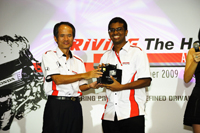 First runner up  Dinesh Appavu from www.traffcmagonline.com with 28.78s