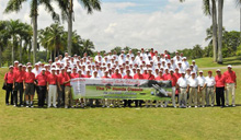 Group Shot at 7<sup>th</sup>  Honda Classic Golf Tournament.