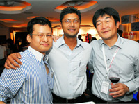 Left - Right: Terrence Loh, Brian Alexis and Mr Atsushi Fujimoto.