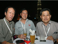 Left - Right: Sam Wong, Lee Pang Seng and SH Tay.