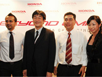 Left - Right: Mr. Akkbar, Mr Fujimoto, MD & CEO of Honda Malaysia Sdn Bhd, En Azman, President & COO of HMSB, and Monique, Head of PR.