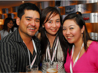 Richard Augustin, Lavinne Yap and Stephanie Chan.