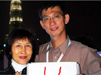 Mr Wong Kong Ngai and wife.