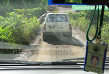Journey through the unsealed graver road to Danum Valley