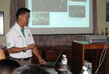 Program presentation by Raymond Alred, Program Manager of WWF-Malaysia, Borneo Species Program
