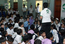 Honda Brings Sumatran Rhinos to a Second Round of Schools!